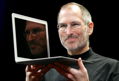 Steve Job and his MacBook Air